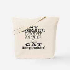 American Curl Cat Designs Tote Bag