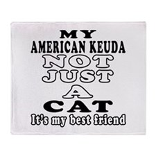 American keuda Cat Designs Throw Blanket