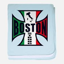 Boston Strong baby blanket