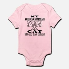 American Shorthair Cat Designs Infant Bodysuit