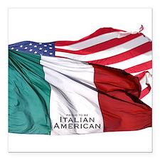 """italianamerican Square Car Magnet 3"""" x 3"""""""