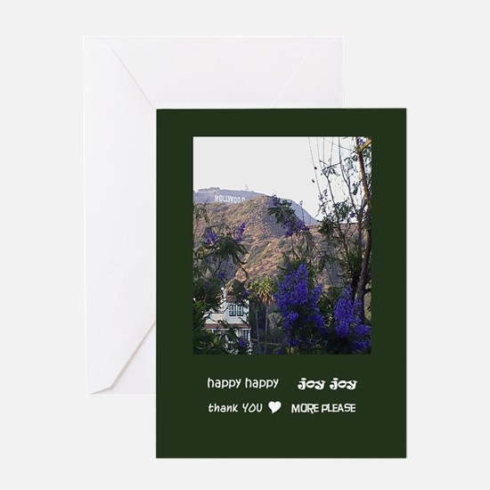 hhjj journal hooray 4 hollywood sign Greeting Card