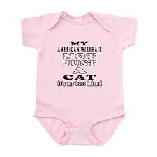 American Wirehair Cat Designs Infant Bodysuit