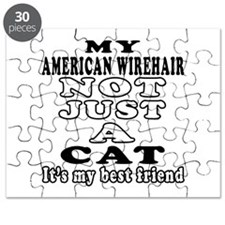 American Wirehair Cat Designs Puzzle