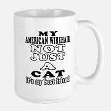 American Wirehair Cat Designs Large Mug