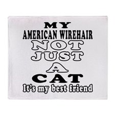American Wirehair Cat Designs Throw Blanket