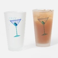 BLUE MARTINI Drinking Glass