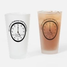 ALWAYS MARTINI TIME SOMEWHERE Drinking Glass