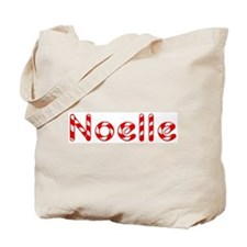 Noelle - Candy Cane Tote Bag