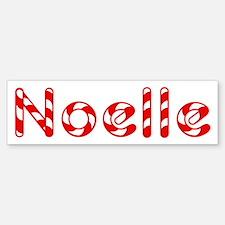 Noelle - Candy Cane Bumper Bumper Bumper Sticker