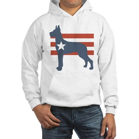 Patriotic Great Dane Hooded Sweatshirt
