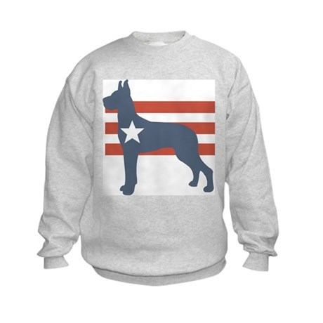 Patriotic Great Dane Kids Sweatshirt