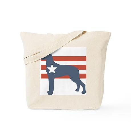 Patriotic Great Dane Tote Bag