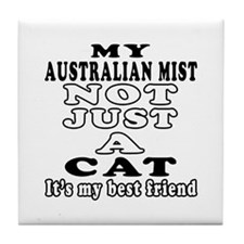Australian Mist Cat Designs Tile Coaster