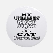 Australian Mist Cat Designs Ornament (Round)