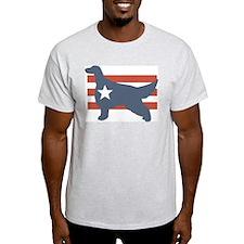 Patriotic Irish Setter Ash Grey T-Shirt