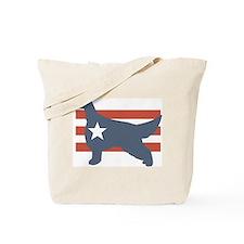 Patriotic Irish Setter Tote Bag