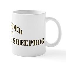 Old English Sheepdog: Guarded Small Mug