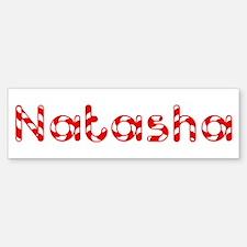 Natasha - Candy Cane Bumper Bumper Bumper Sticker