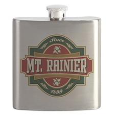 Mt. Rainier Old Label Flask