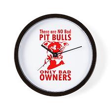 NO BAD PIT BULLS Wall Clock