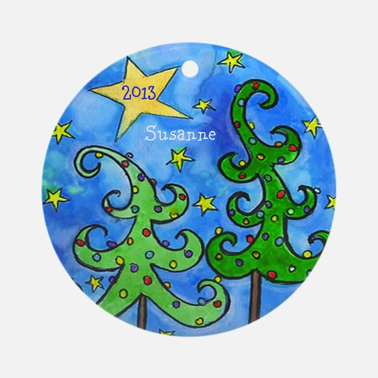 Personalized Christmas Trees & Stars Ornament