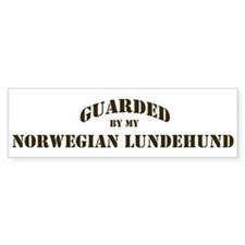 Norwegian Lundehund: Guarded Bumper Bumper Sticker