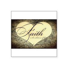 faith is grunge heart Sticker