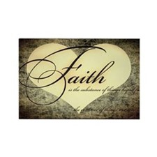 faith is grunge heart Rectangle Magnet