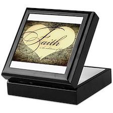 faith is grunge heart Keepsake Box