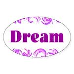 DREAMS Oval Sticker
