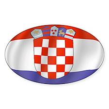 Pure Flag of Croatia Oval Decal