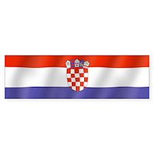 Pure Flag of Croatia Bumper Bumper Sticker
