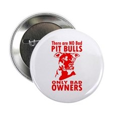 """NO BAD PIT BULLS 2.25"""" Button (100 pack)"""