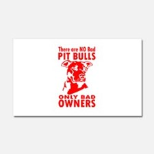NO BAD PIT BULLS Car Magnet 20 x 12