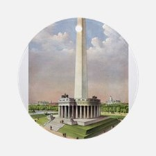 The National Washington Monument - 1885 Round Orna