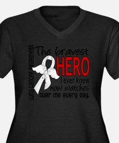 Bravest Hero I Knew Lung Cancer Plus Size T-Shirt