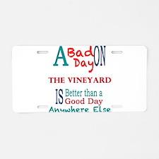 The Vineyard Aluminum License Plate