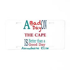 The Cape Aluminum License Plate