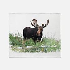 Minnesota Moose Throw Blanket