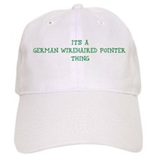German Wirehaired Pointer thi Baseball Cap
