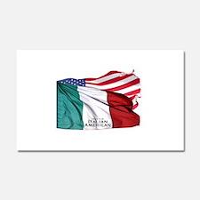 Italian American Car Magnet 20 x 12