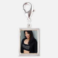 Portrait of a Filipino woman Silver Portrait Charm