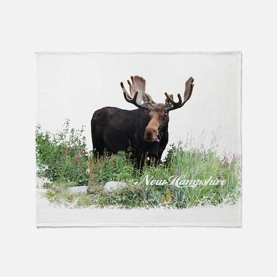 New Hampshire Moose Throw Blanket