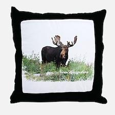 New Hampshire Moose Throw Pillow