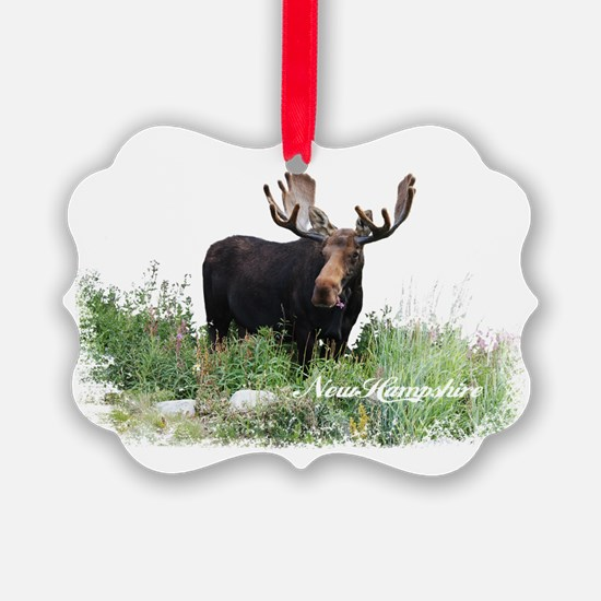 New Hampshire Moose Ornament