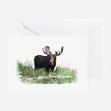 New Hampshire Moose Greeting Card