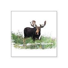 """New Hampshire Moose Square Sticker 3"""" x 3"""""""