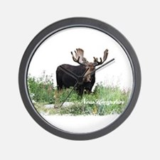 New Hampshire Moose Wall Clock