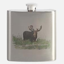 New Hampshire Moose Flask